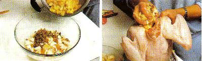 Pechuga de pavo asado hacia abajo o hacia arriba